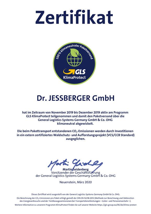 Certificación de la Empresa Jessberger