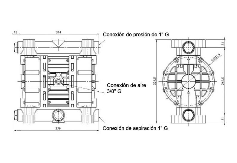 Dimensiones JP-800.150