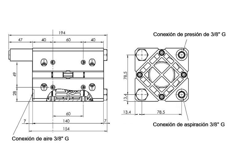 Dimensiones Bomba JP-800.16