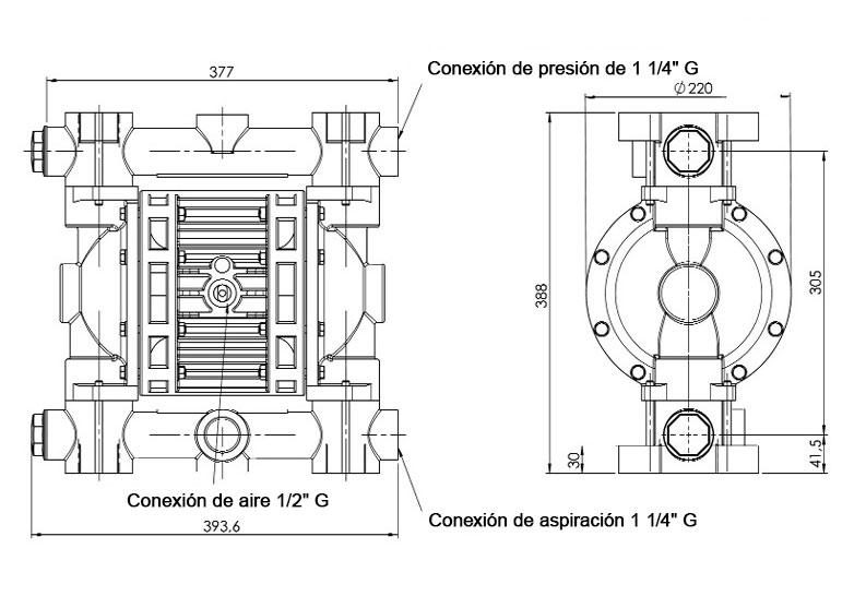 Dimensiones JP-800.220