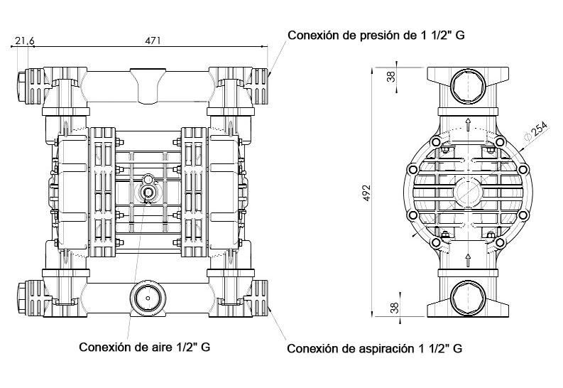 Dimensiones JP-800.340