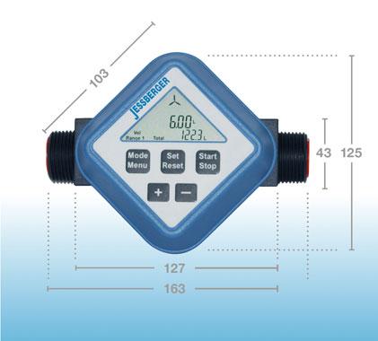 Medidor de turbina FM-120 medidor