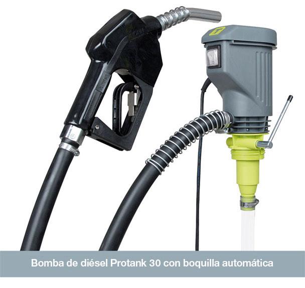 Bomba de diésel Protank 30 con boquilla automática